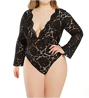 Shirley of Hollywood Plus Size All Over Stretch Lace Teddy