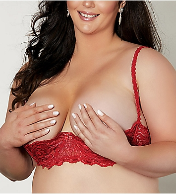 30123e6161bcd Shirley of Hollywood Plus Size Chopper Lace Shelf Bra X324 - Shirley ...