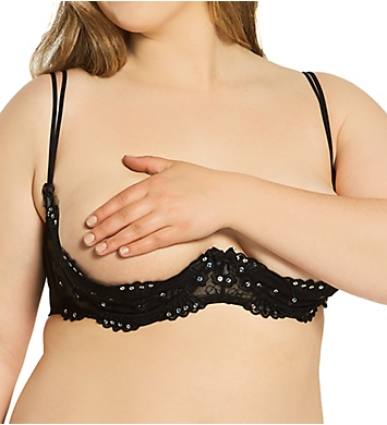 Shirley of Hollywood Plus Size Sequin Embroidered Shelf Bra