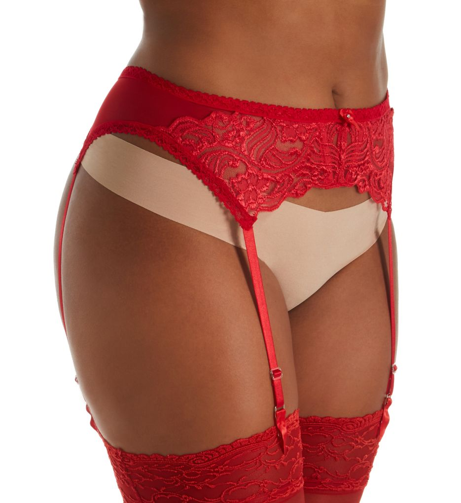 Shirley of Hollywood Plus Size Chopper Lace Garter Belt