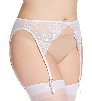 Shirley of Hollywood Plus Size Sequin Embroidered Garter Belt