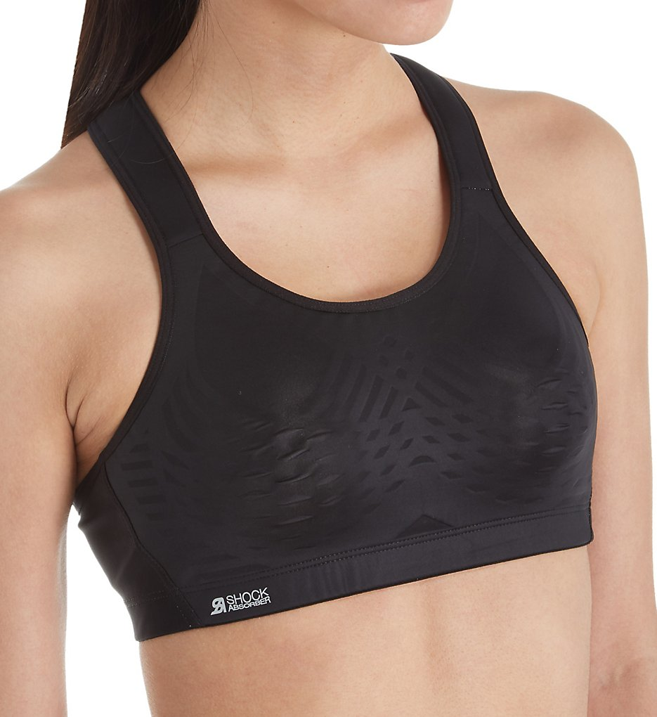 Shock Absorber - Shock Absorber S02Y3 Ultimate Fly Sports Bra (Black/Grey 32A)