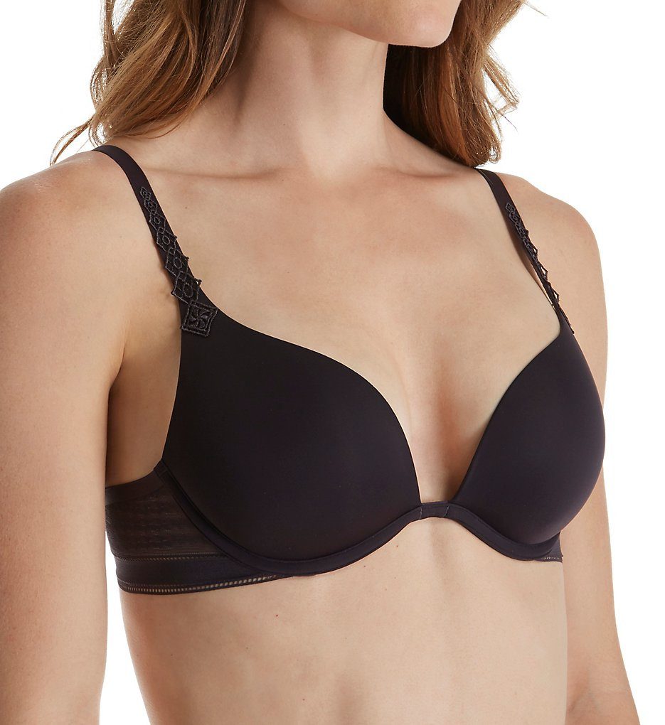 Simone Perele - Simone Perele 12C347 Muse Triangle Plunge Push-Up Bra (Anthracite 36B)