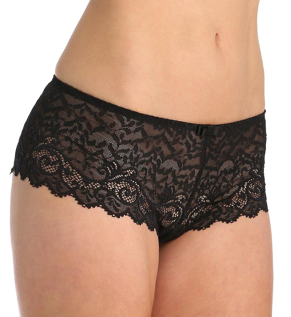 Simone Perele : Simone Perele 12M630 Celeste Boyshort Panty (Black XL)