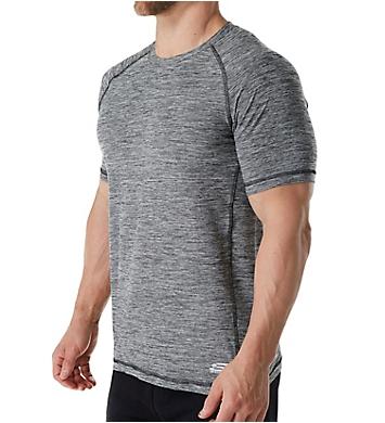 Skechers Melange Short Sleeve Raglan Crew T-Shirt
