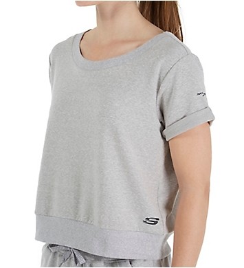 Skechers Criss Cross French Terry Short Sleeve Top