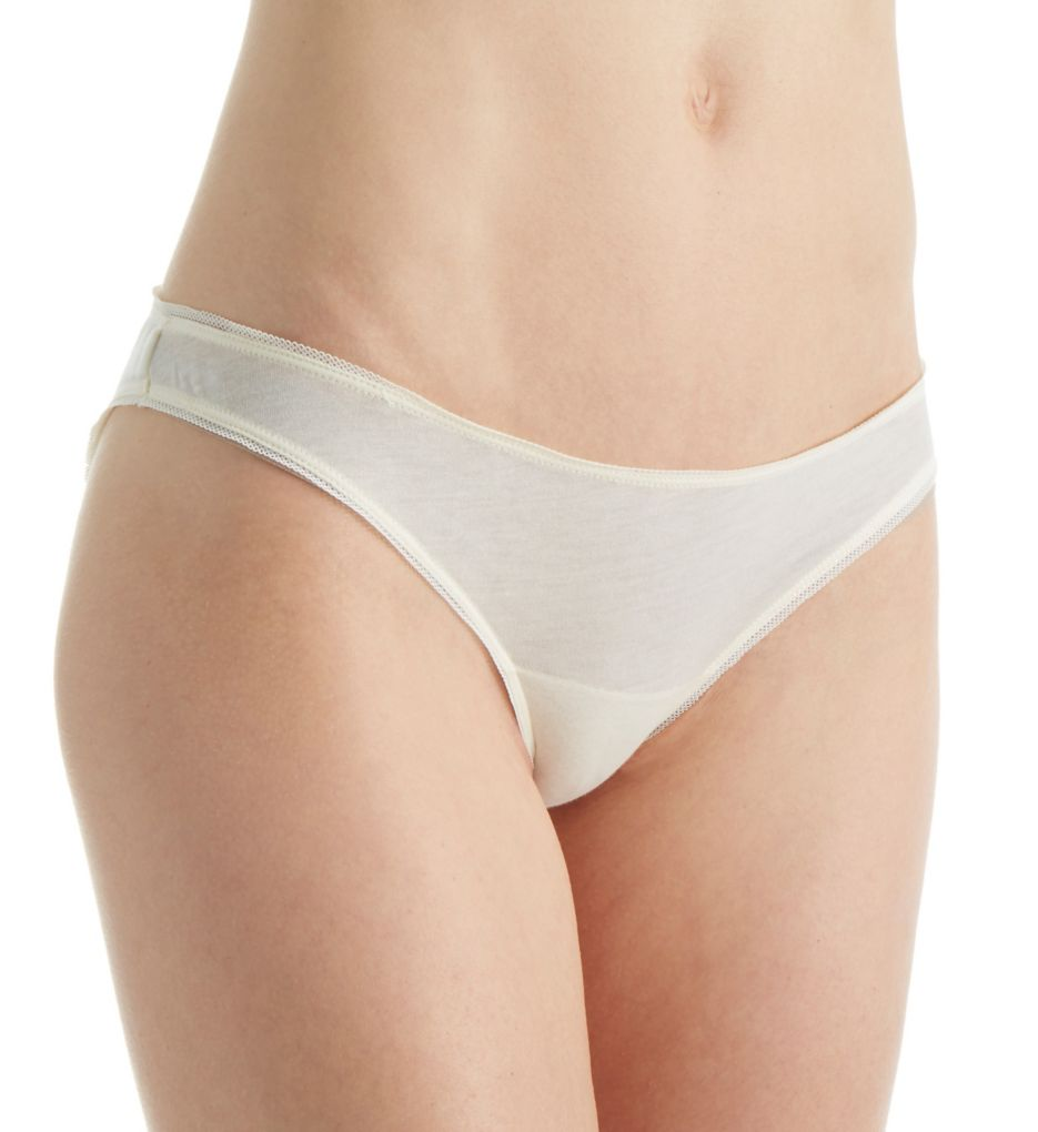 Skin Organic Pima Cotton Jersey Mesh Bikini Panty