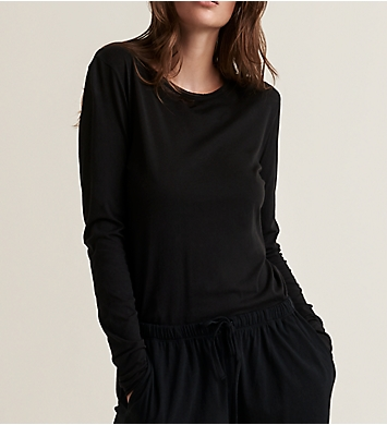 Skin Superfine Pima Jersey Long Sleeve Crew Neck Tee