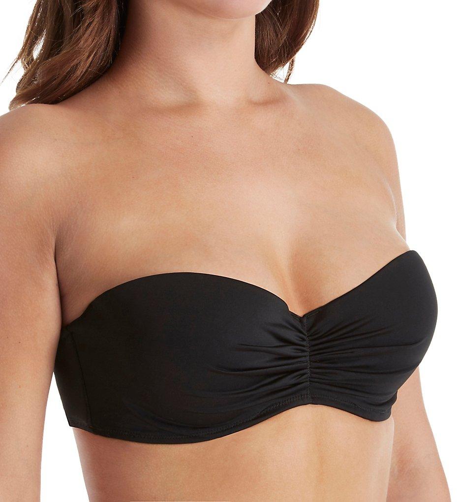 Smart and Sexy SA1003 Swim Secret The Flirt Bandeau Bikini Swim Top (Black Hue)