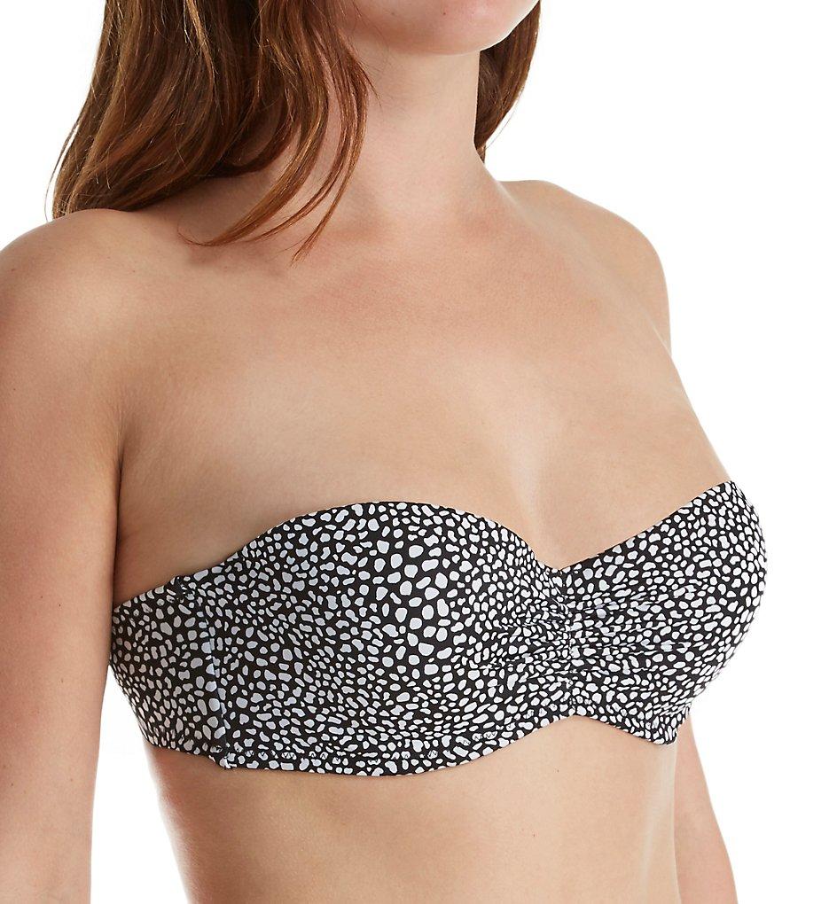 Smart and Sexy SA1003 Swim Secret The Flirt Bandeau Bikini Swim Top (Itsy Pebbles)