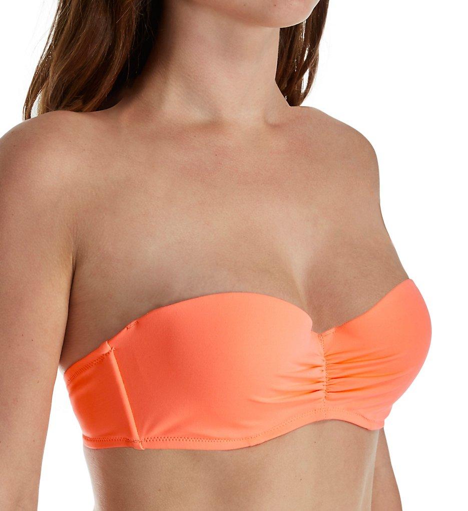 Smart and Sexy SA1003 Swim Secret The Flirt Bandeau Bikini Swim Top (Peach Luster)