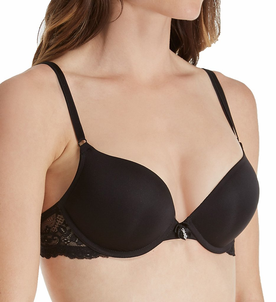 Smart and Sexy - Smart and Sexy SA276 Add 2 Cup Sizes Push Up Bra (Black w/Lace Wings 34B)