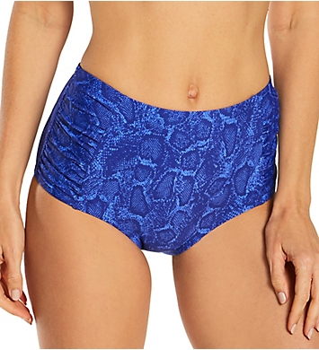 Smart and Sexy High Waisted Bikini Bottom with Side Ruching
