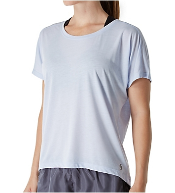 Soffe Juniors Feel The Burn Back Cutout Tee
