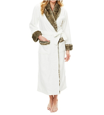 Softies by Paddi Murphy 50 Inch Faux Fur Trim Robe