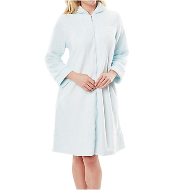 Softies by Paddi Murphy Plush Velour Short Zip Robe