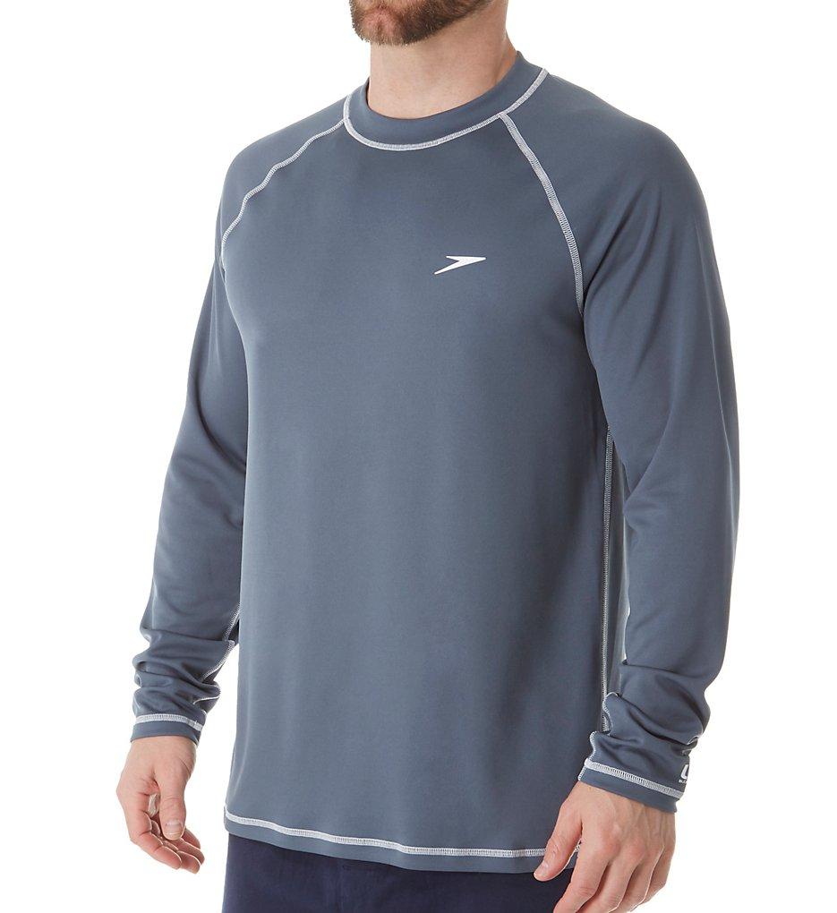 7ec509872c speedo 7482183 easy long sleeve loose fit swim tee (deep steel grey 2xl)