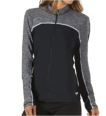 Speedo Endurance Lite Zip Front Rash Guard