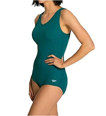 Speedo Pebble Texture One Piece Swimsuit