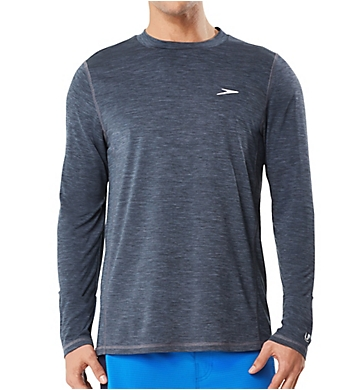 Speedo Space Dye Long Sleeve Swim Tee