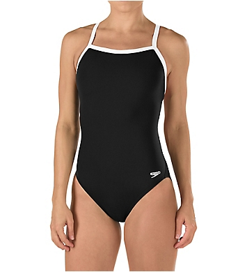 Speedo Solid Flyback Training One Piece Swimsuit
