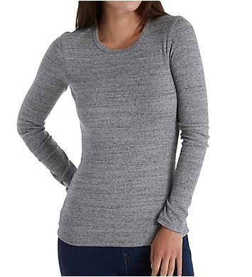 Splendid 1x1 Classic Rib Long Sleeve Crew Neck Top