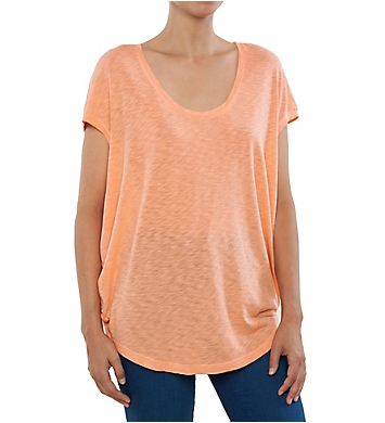 Splendid Slub Jersey Cap Sleeve Scoop Neck Tee