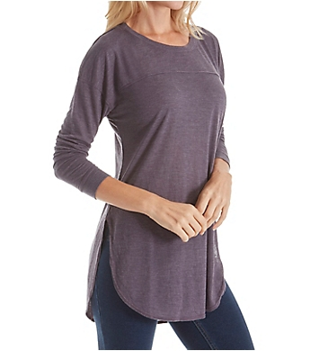 Splendid Heathered Crew Neck Long Sleeve Tee