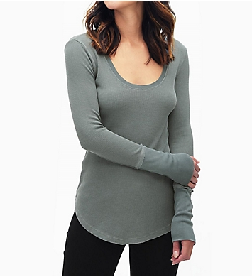Splendid Nordic Thermal 1x1 Rib Trim Long Sleeve Tee