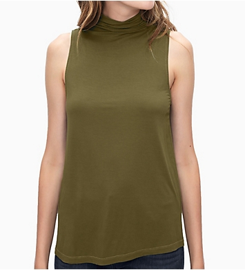 Splendid Rayon Jersey Sleeveless Turtleneck Tee