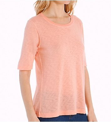 Splendid Slub Elbow Sleeve Crew Neck Tee