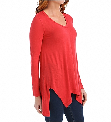 Splendid Slub LS High Low Scoop Neck