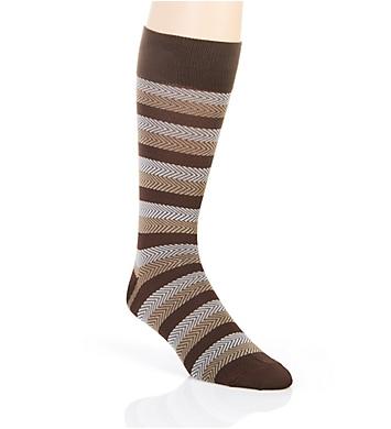 Stacy Adams Gemstones Chevron Stripe Crew Dress Sock