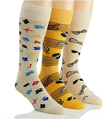 Stacy Adams Fun Time Combed Cotton Socks - 3 Pack