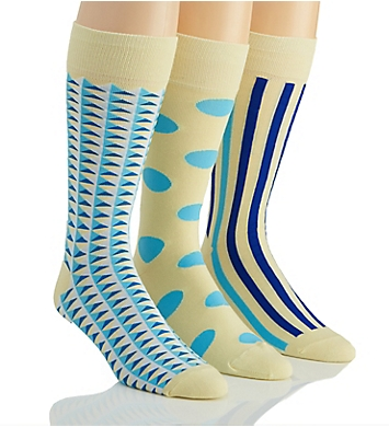 Stacy Adams Pastel Blues Combed Cotton Socks - 3 Pack
