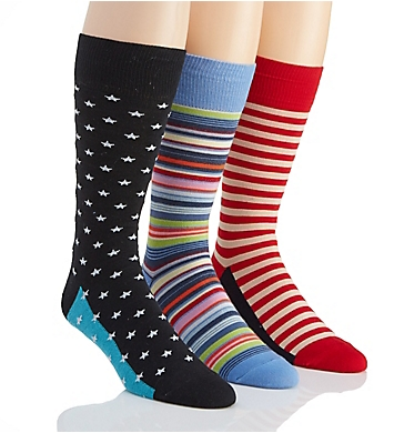 Stacy Adams Stars & Stripes Mis-Matched Socks - 3 Pack