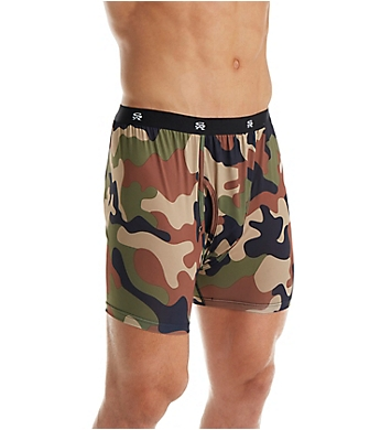 Stacy Adams Camo Print Boxer Brief