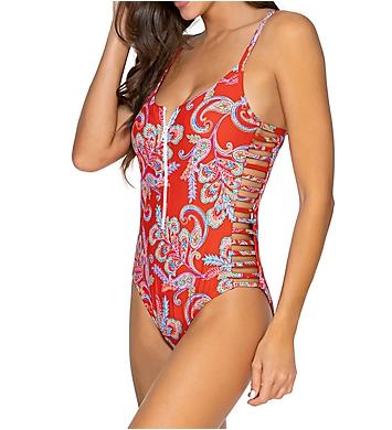 Sunsets Newport Borderline One Piece Swimsuit