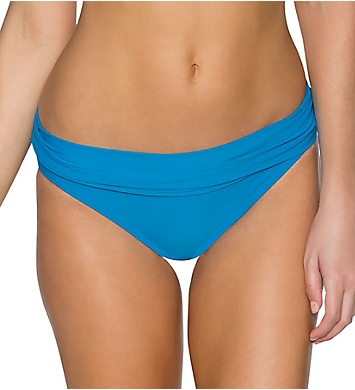 Sunsets French Blue Unforgettable Fold Brief Swim Bottom