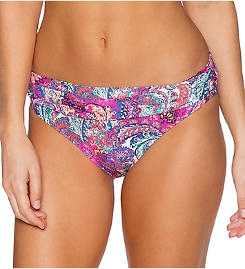 Sunsets Paisley Peacock Fold Brief Swim Bottom