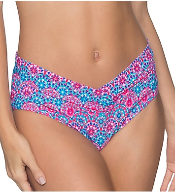 Sunsets Stained Glass V-Front Brief Swim Bottom