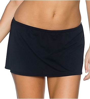 Sunsets Solid Contemporary Skirt Swim Bottom