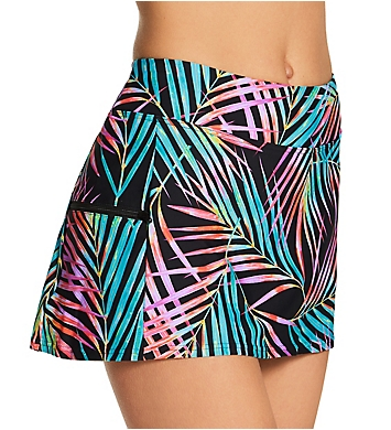 Sunsets Moonlit Palms Sporty Swim Skirt