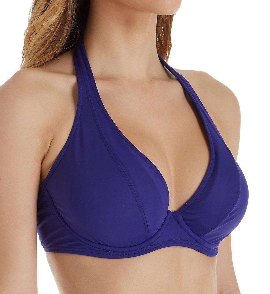 57c4f67c2bd48 Sunsets Sapphire Muse Underwire Halter Swim Top 51SP - Sunsets Swimwear