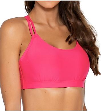 Sunsets Hot Pink Taylor Bralette Swim Top