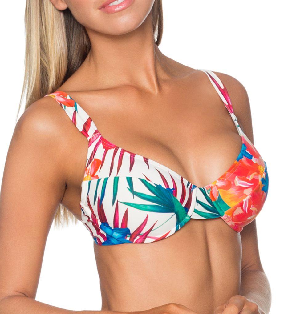 Sunsets Fiji Flora Bardot Underwire Plunge Swim Top