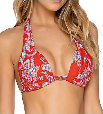 Sunsets Newport Marilyn Halter Bikini Swim Top