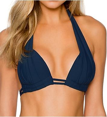 Sunsets Slate Marilyn Halter Bikini Swim Top