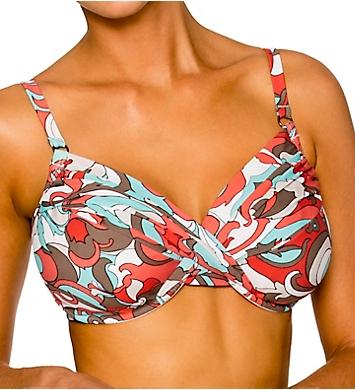 Swim Systems Coconut Grove Shirred Underwire Swim Top