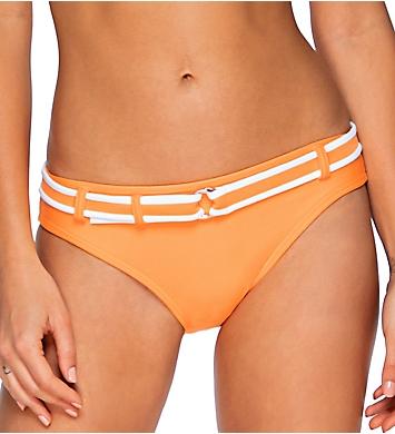 Swim Systems Maui Melon Solid Zuma Belted Hipster Swim Bottom